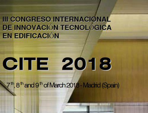 Participación en el III Congreso internacional de innovación tecnológica en edificación. CITE 2018