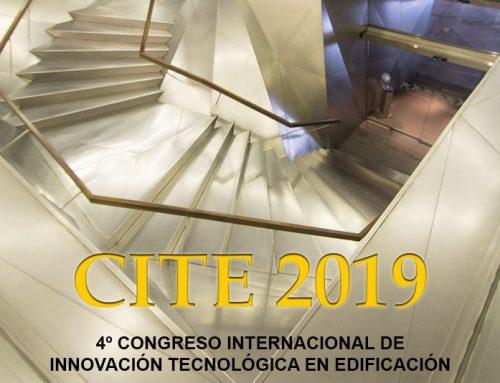 Participación en el 4° Congreso Internacional de Innovación tecnológica en edificación CITE 2019