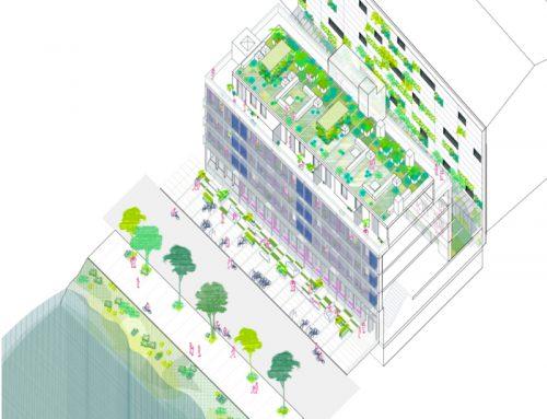Rehabilitación de edificio administrativo en 158 Hochbergerstrasse, Basilea. Concurso