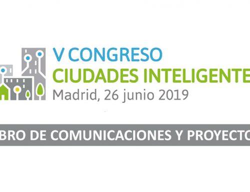 Publicado artículo en el Libro de Comunicaciones del V Congreso Ciudades Inteligentes
